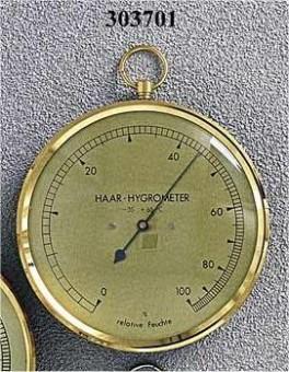 Hår hygrometer i forgyldt.