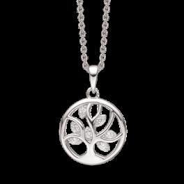 Sølv halskæde med vedhæng - Livets træ