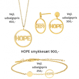 "Land Of Hope ""HOPE"" smykkesæt i forgyldt sølv fra Nordahl Jewellery og Anja Lovén."
