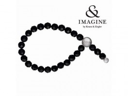 Imagine armbånd med sort onyx 2804002