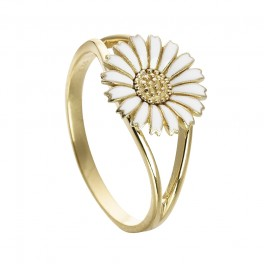 Marguerit ring 10 mm, forgyldt sølv 5405603