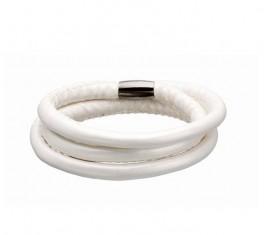 Hvid STORY armbånd med magnetlås.