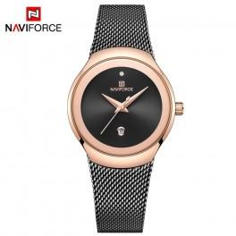 Naviforce dameur i sort og rosaforgyldt