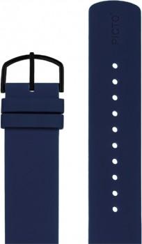 Picto navy blå silikonerem 0520B