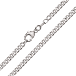 Sølv armbånd, flad panzer 1mm 110018