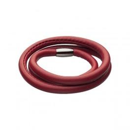 STORY armbånd i lækkert, rødt lammeskind med stål lås.
