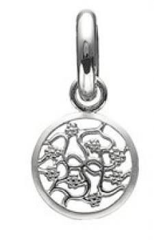 Story sølv charm med blomster-20