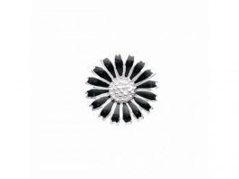 Story marguerit charm 10 mm i sølv med sortemalje 4408867