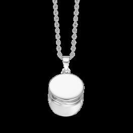 Studenterhue vedhæng med halskæde i sterling sølv