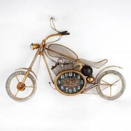 Motorcykel som væg dekoration med indbygget ur.