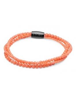 STORY stenarmbånd single, koral, Orange-20