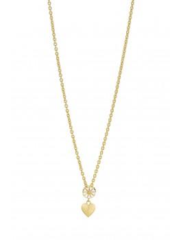 Marguerit halskæde med hjerte 902030-M