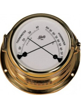 Schatz termo-/hygrometer messing, Midi-20