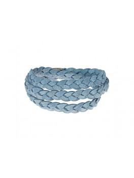 Story armbånd, ruskind, blå 1004863