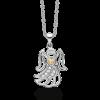 Sølvhalskæde med engel