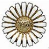 Marguerit broche 36 mm