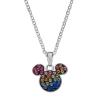 Disney sølv halskæde Mickey Mouse med forskellige farver.