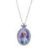 Disney Frost sølv halskæde med Elsa og cubic zirconia sten.