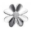 STORY sølv led med stor blomst og zirkoniasten