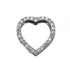 Story charm hjerteknap sølv
