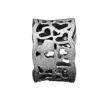 Story ring bred sort sølvring hjertemønster lille
