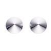Blanke kegleformede øreringe i sølv