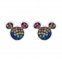 Disney Mickey Mouse ørestikker i sølv.