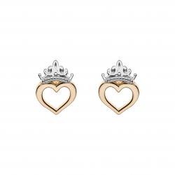 Disney Princess 9 kt. guld ørestikker krone med hjerte.