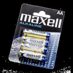 Batteri Maxell Alkaline LR6 AA - 4 pk